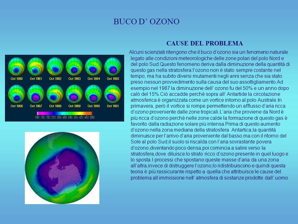 BUCO D' OZONO CAUSE DEL PROBLEMA