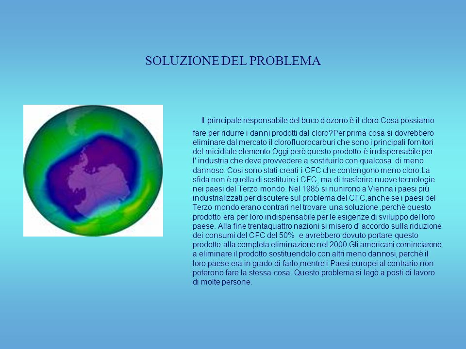 SOLUZIONE DEL PROBLEMA