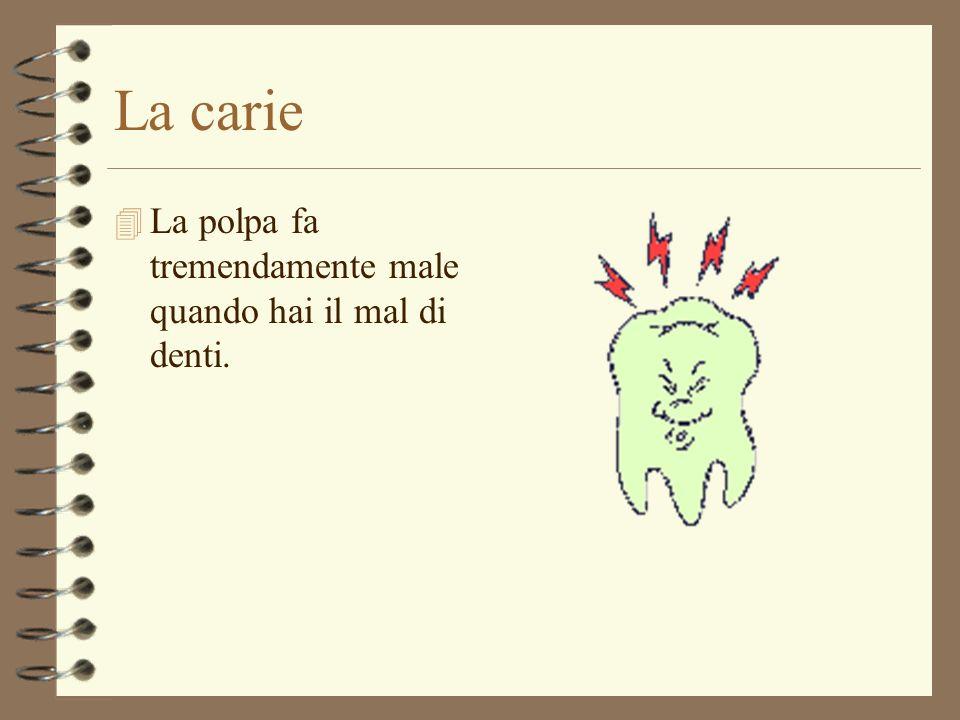 La carie La polpa fa tremendamente male quando hai il mal di denti.