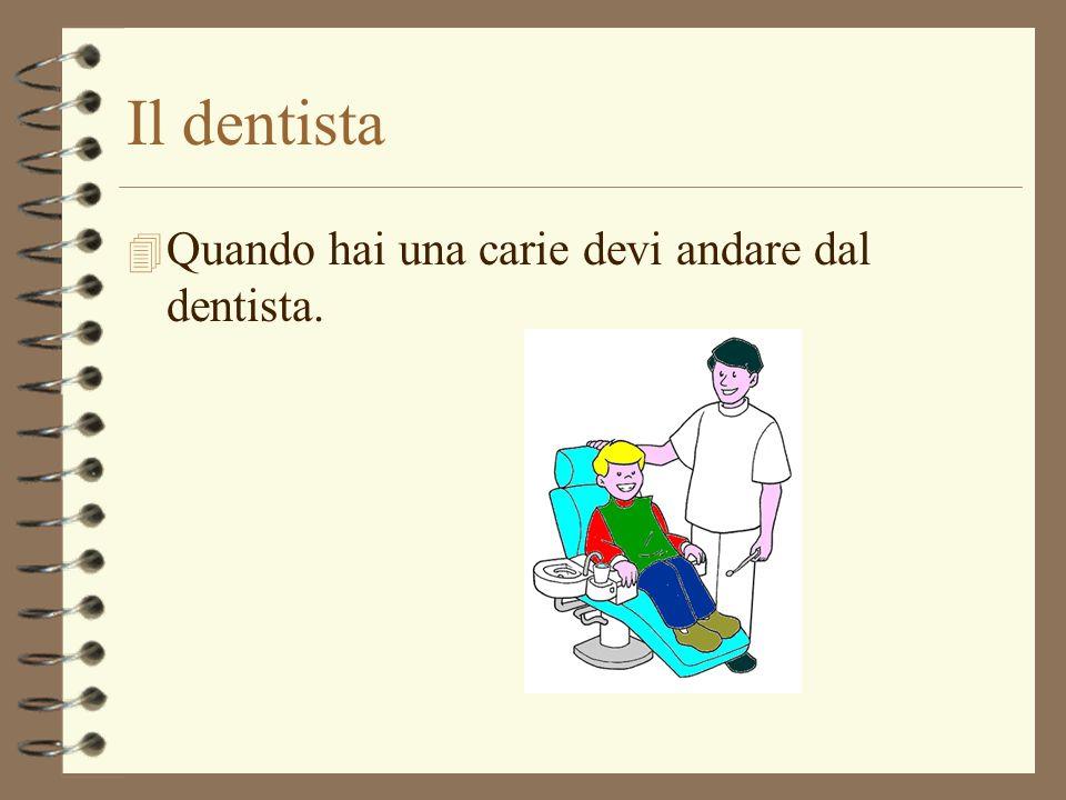 Il dentista Quando hai una carie devi andare dal dentista.