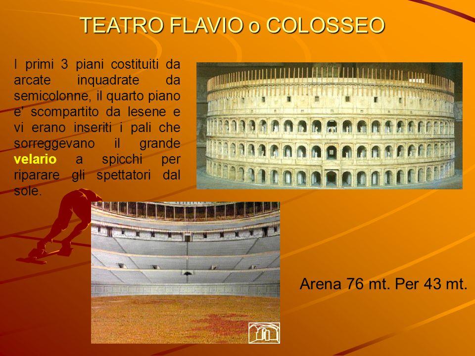 TEATRO FLAVIO o COLOSSEO