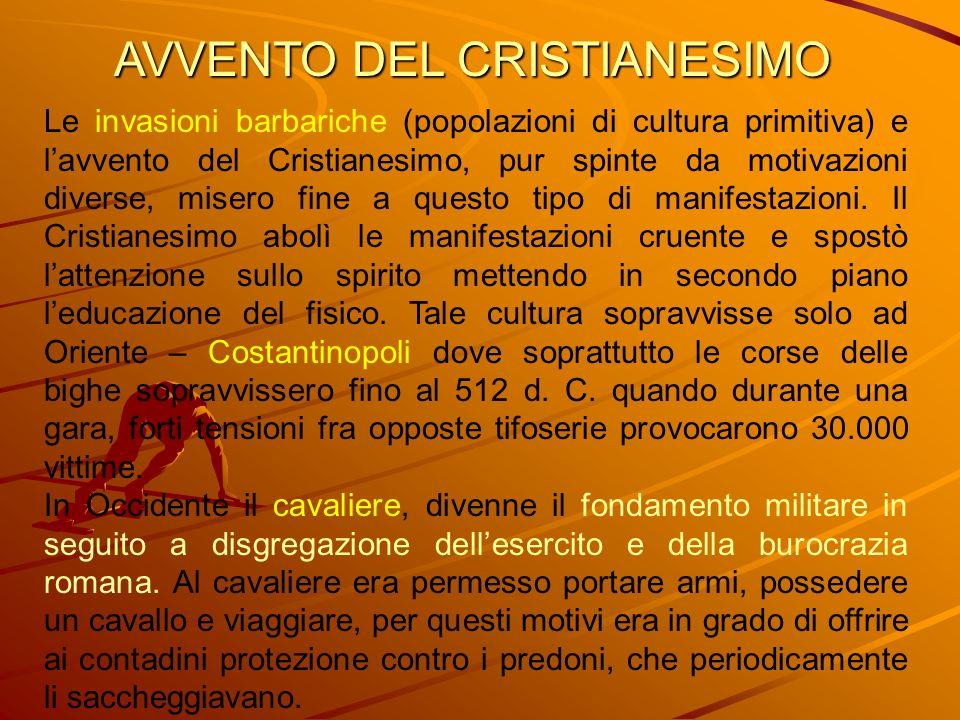 AVVENTO DEL CRISTIANESIMO