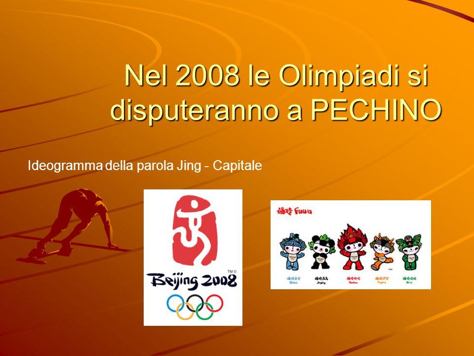Nel 2008 le Olimpiadi si disputeranno a PECHINO