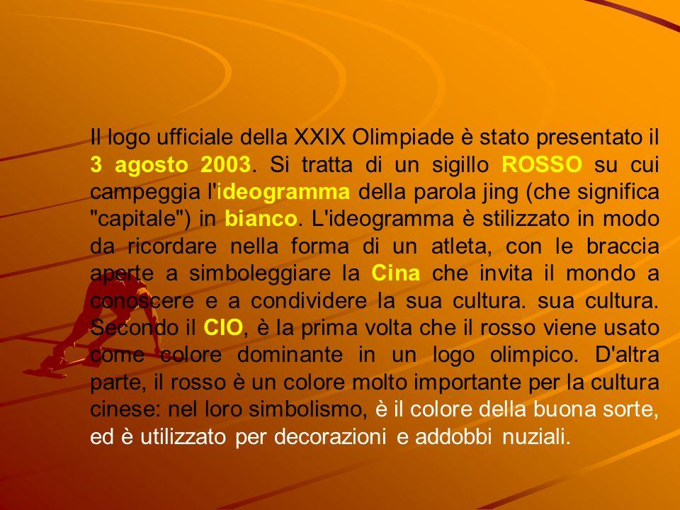 Il logo ufficiale della XXIX Olimpiade è stato presentato il 3 agosto 2003.