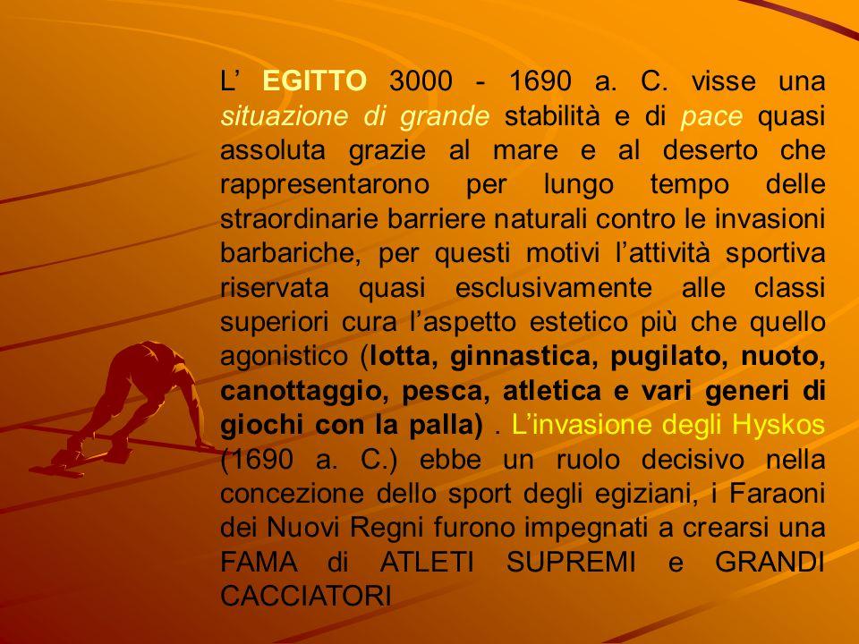 L' EGITTO 3000 - 1690 a. C.