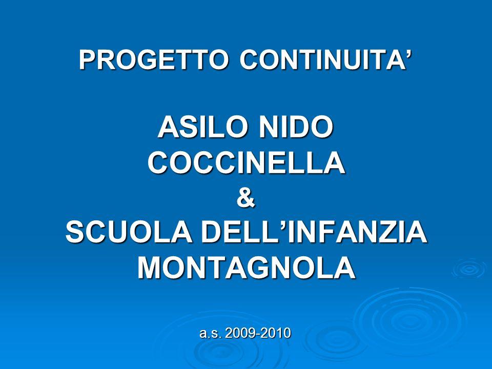PROGETTO CONTINUITA' ASILO NIDO COCCINELLA & SCUOLA DELL'INFANZIA MONTAGNOLA a.s. 2009-2010