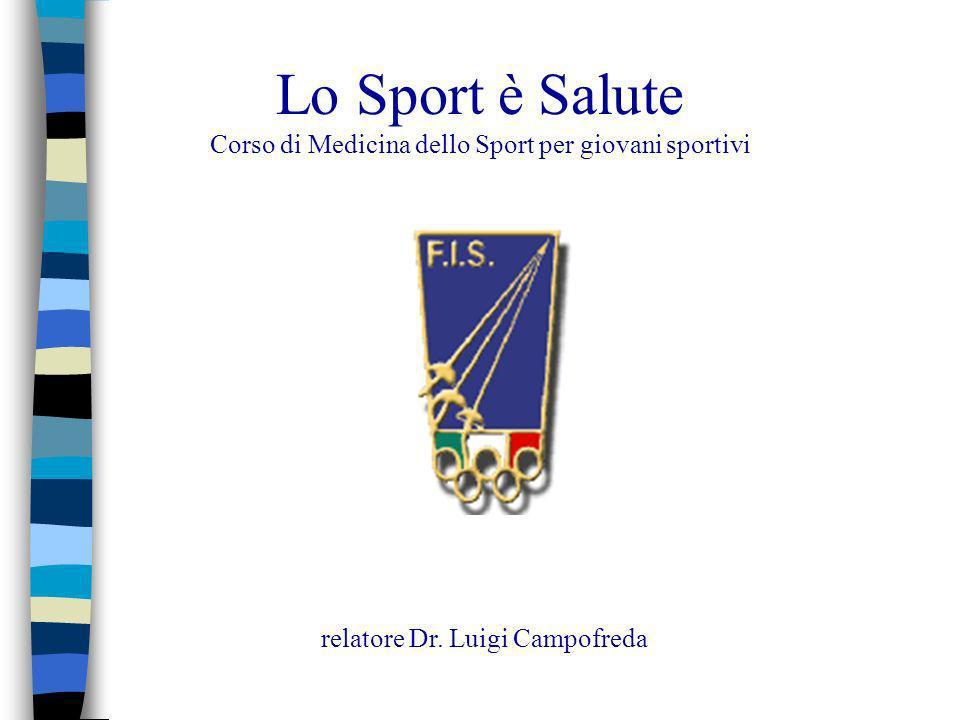 Lo Sport è Salute Corso di Medicina dello Sport per giovani sportivi