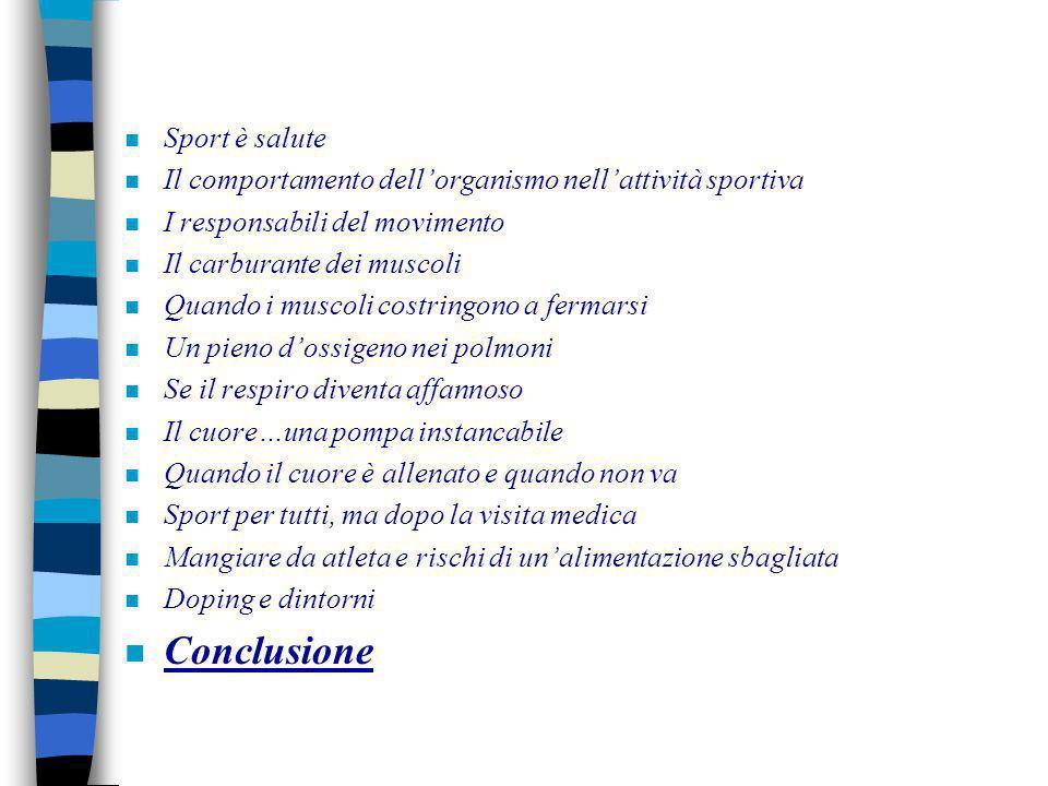 Conclusione Sport è salute