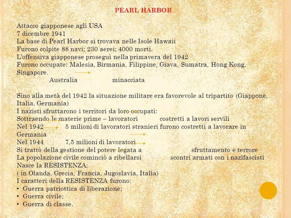 PEARL HARBOR Attacco giapponese agli USA. 7 dicembre 1941. La base di Pearl Harbor si trovava nelle Isole Hawaii.