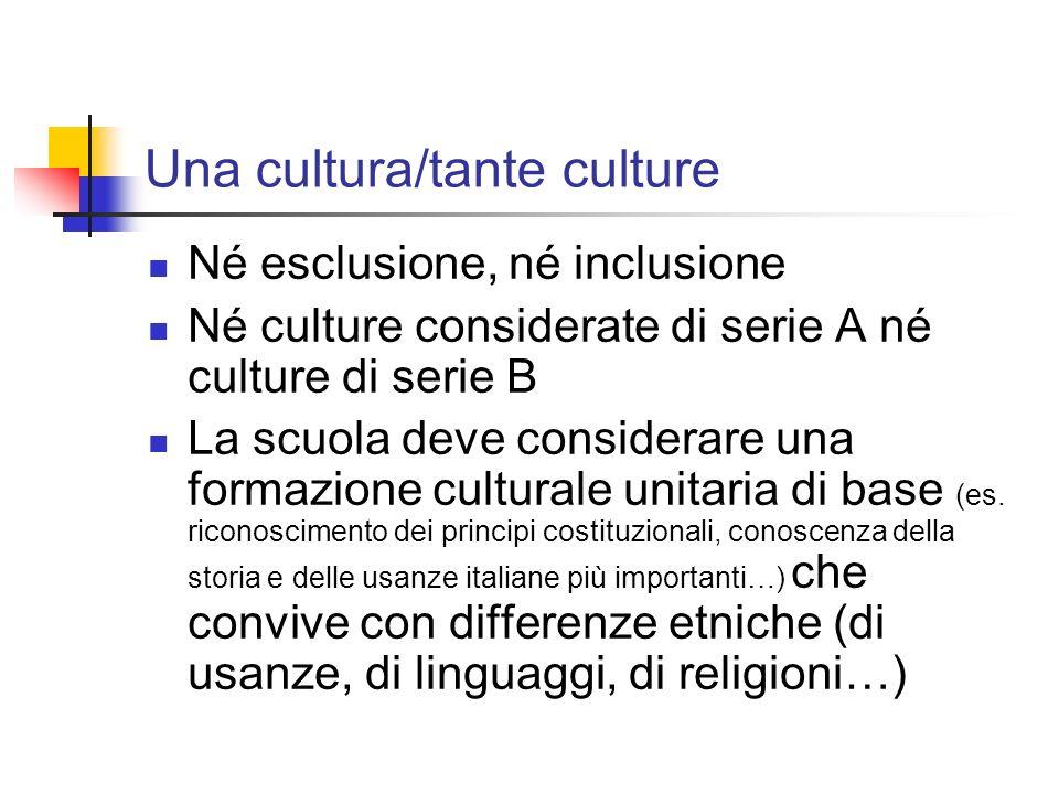 Una cultura/tante culture