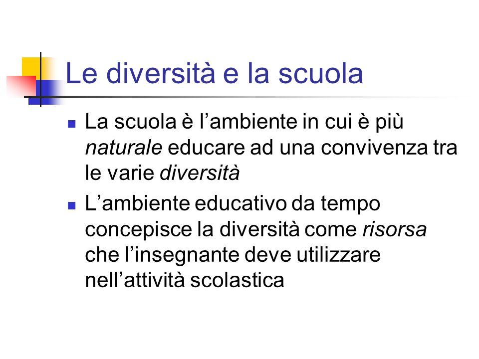 Le diversità e la scuola