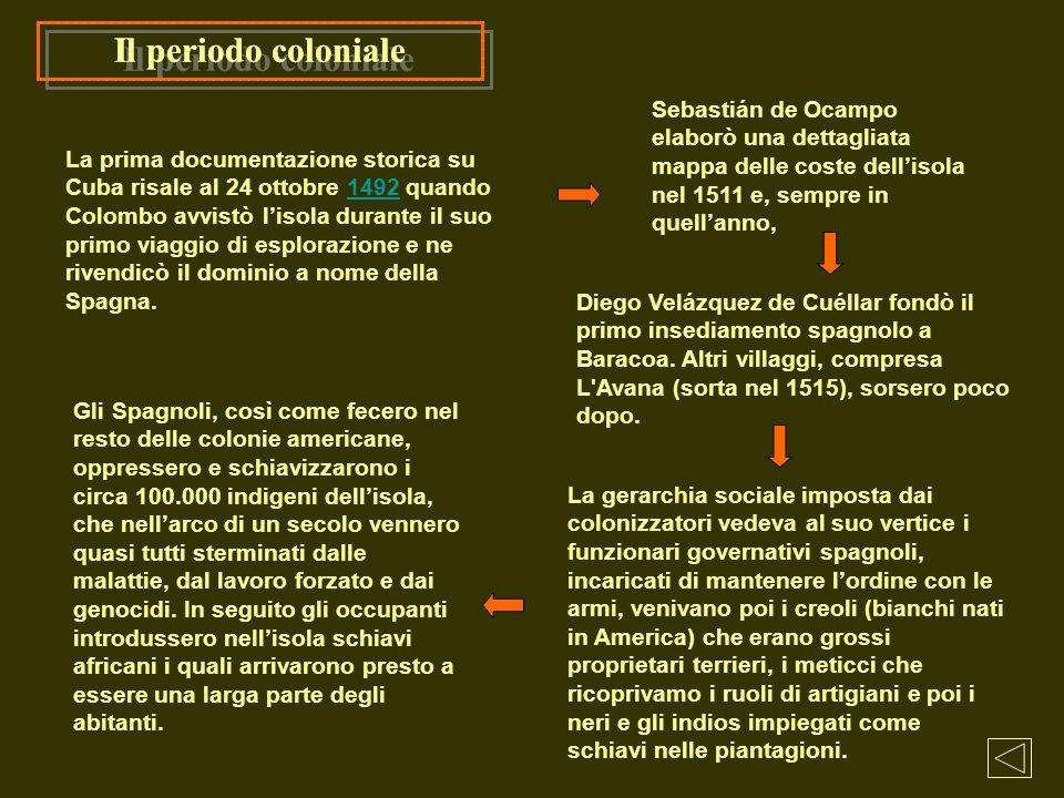 Il periodo coloniale