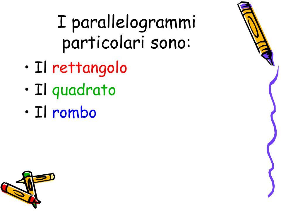 I parallelogrammi particolari sono: