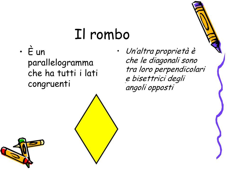Il rombo È un parallelogramma che ha tutti i lati congruenti