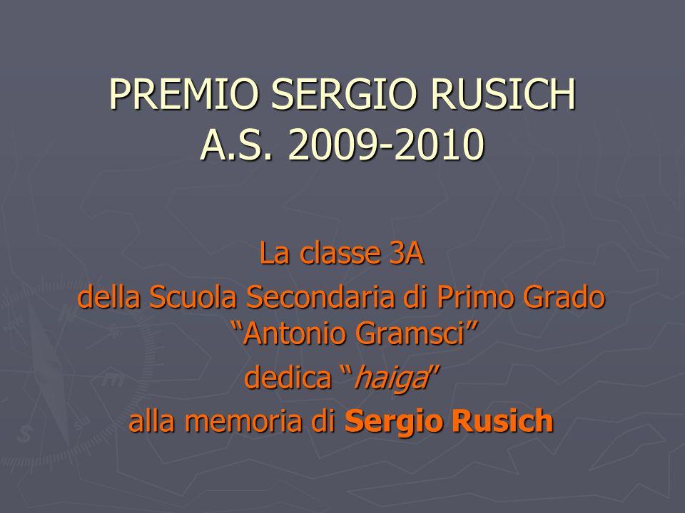 PREMIO SERGIO RUSICH A.S. 2009-2010