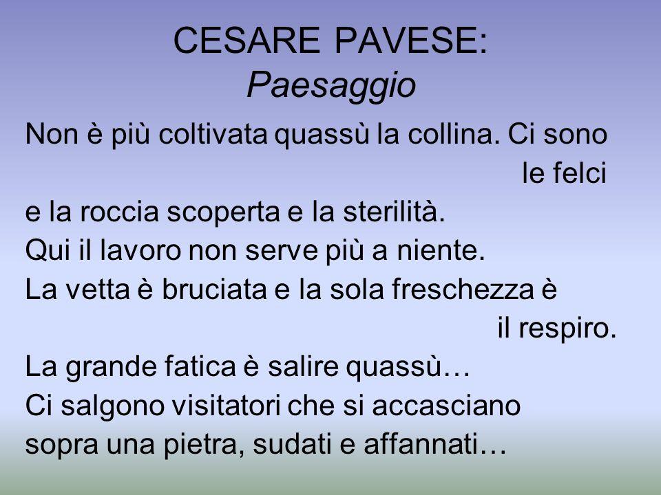CESARE PAVESE: Paesaggio