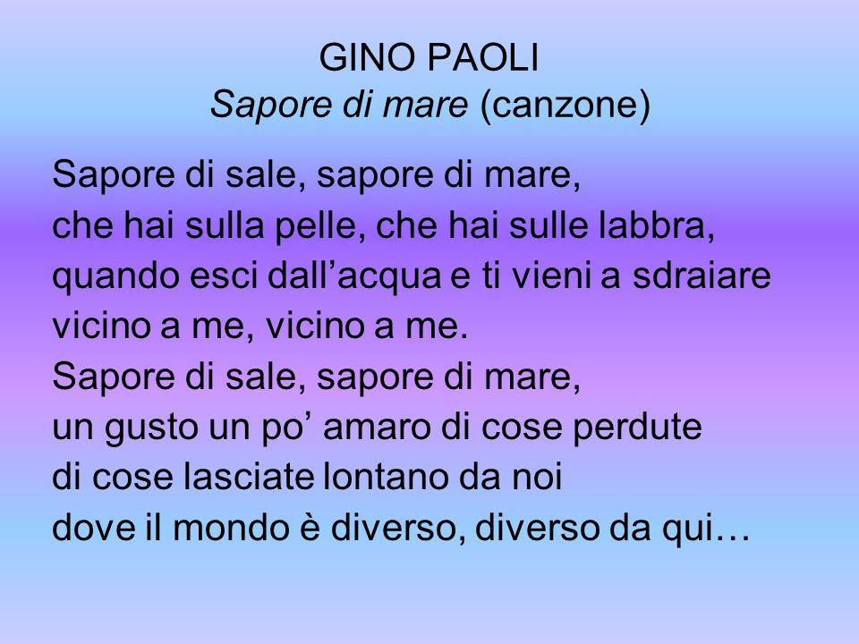 GINO PAOLI Sapore di mare (canzone)