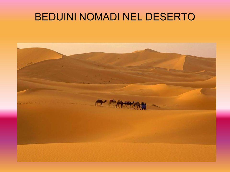 BEDUINI NOMADI NEL DESERTO