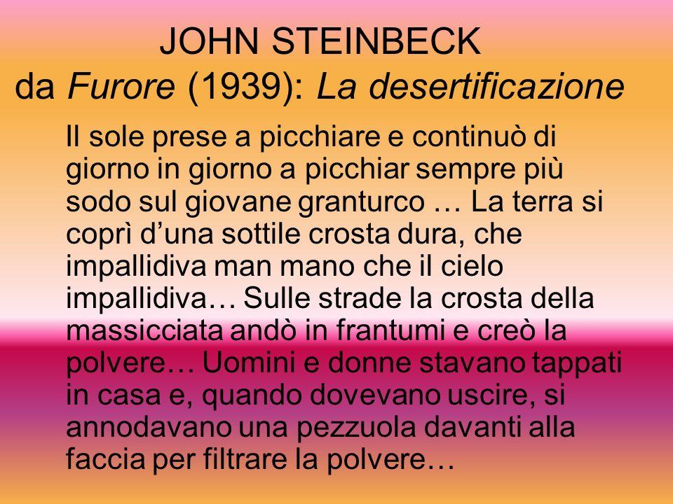 JOHN STEINBECK da Furore (1939): La desertificazione