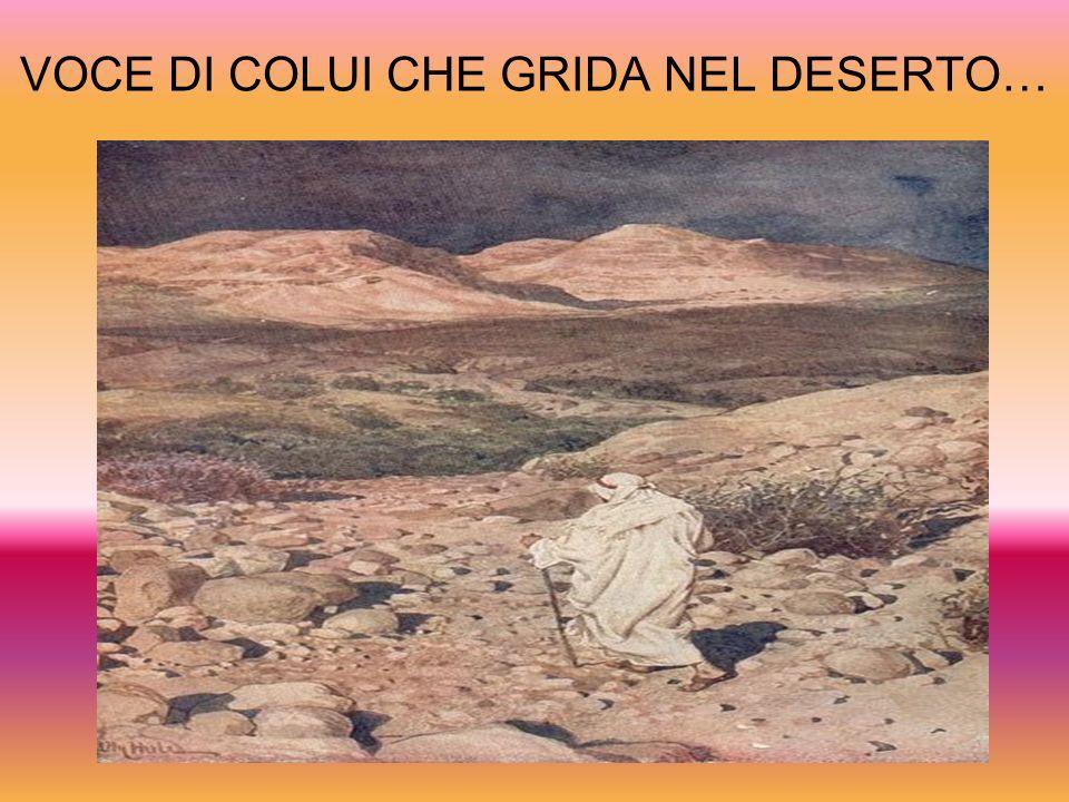 VOCE DI COLUI CHE GRIDA NEL DESERTO…