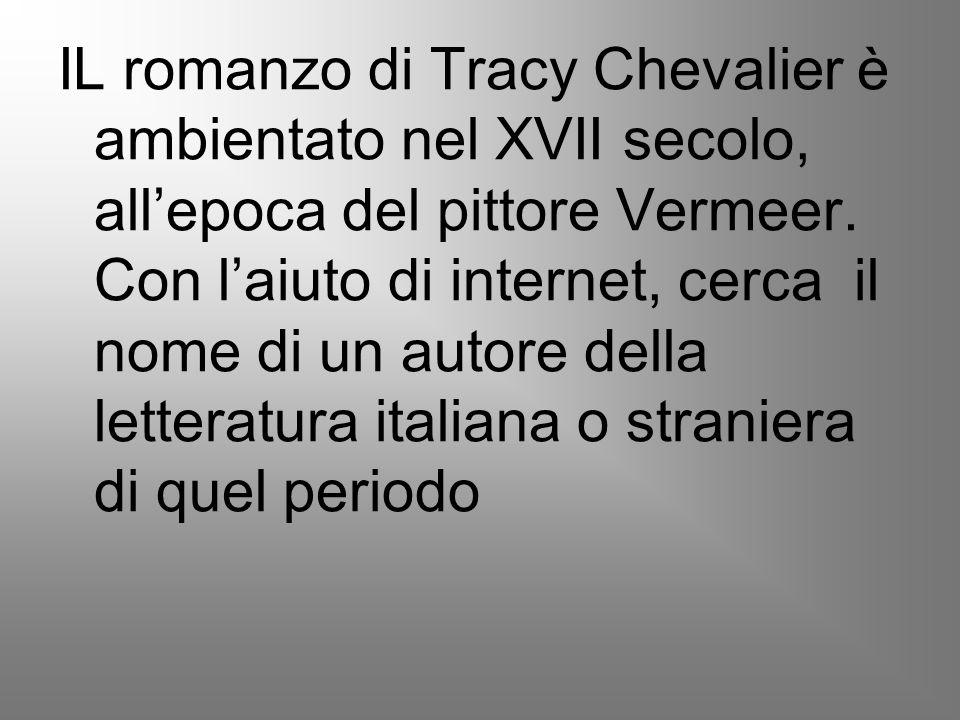 IL romanzo di Tracy Chevalier è ambientato nel XVII secolo, all'epoca del pittore Vermeer.