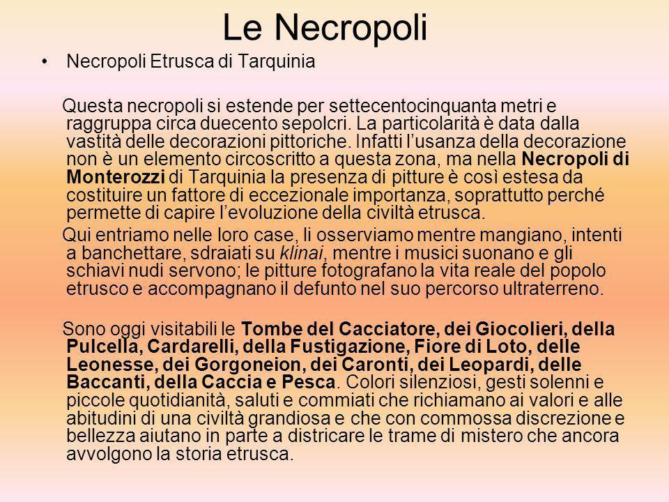 Le Necropoli Necropoli Etrusca di Tarquinia