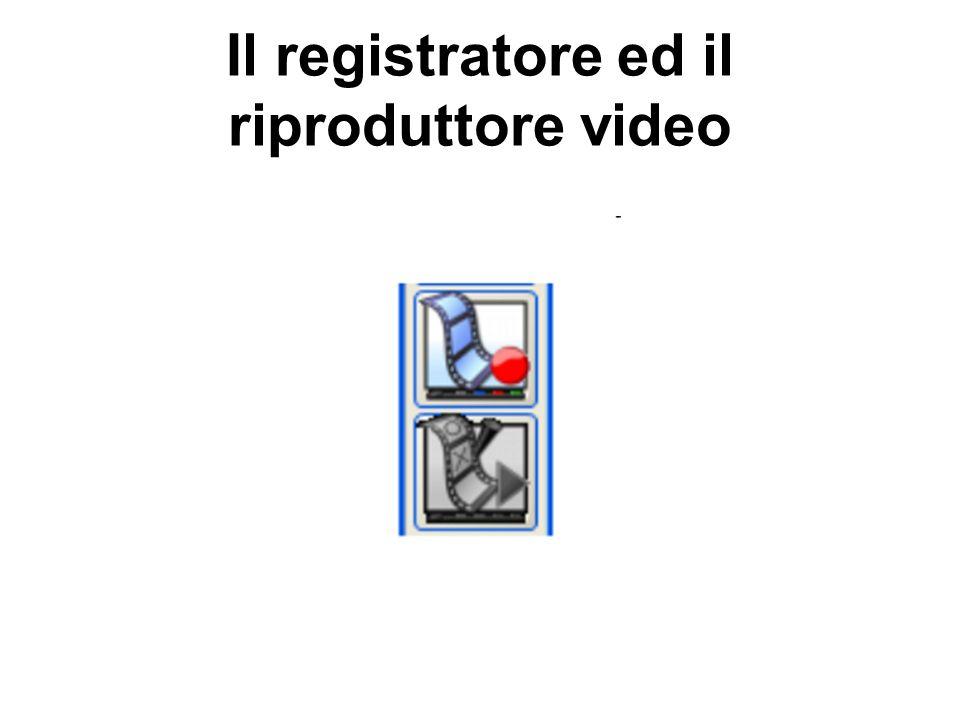 Il registratore ed il riproduttore video
