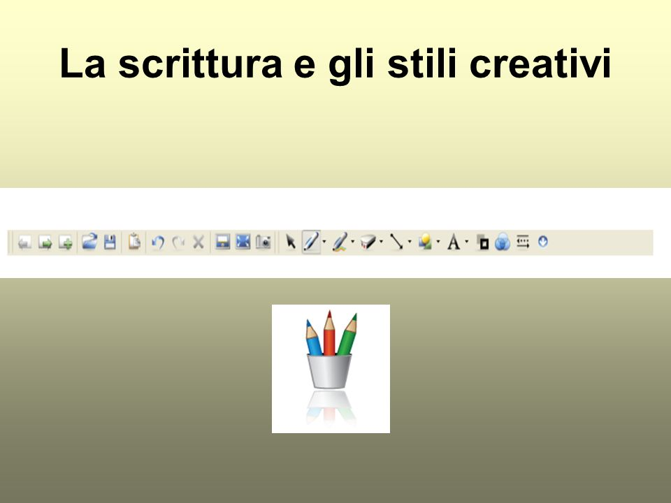 La scrittura e gli stili creativi