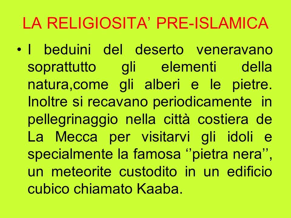 LA RELIGIOSITA' PRE-ISLAMICA