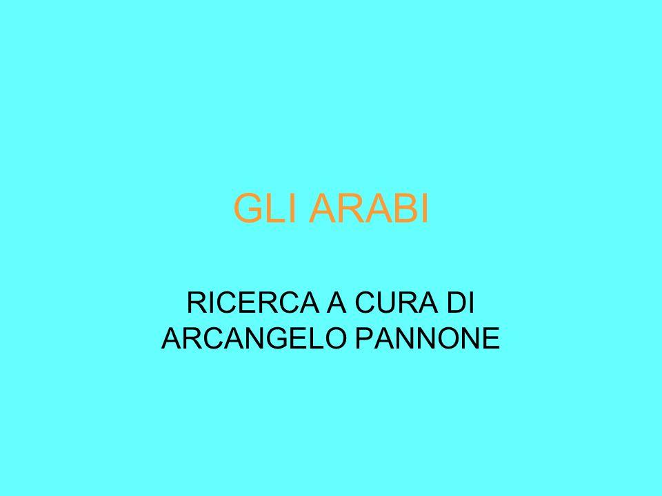RICERCA A CURA DI ARCANGELO PANNONE
