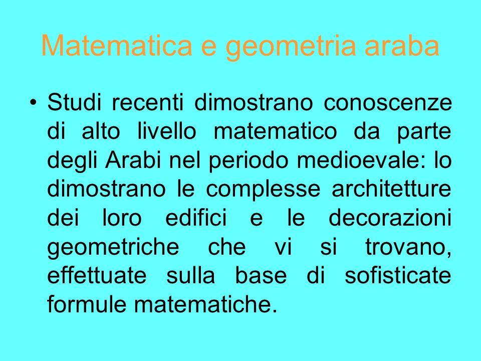 Matematica e geometria araba