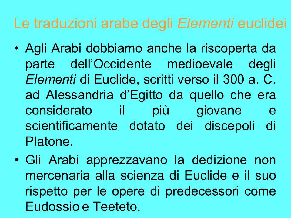 Le traduzioni arabe degli Elementi euclidei
