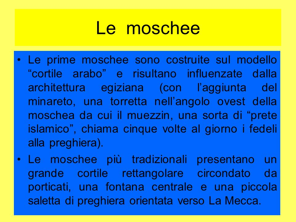 Le moschee