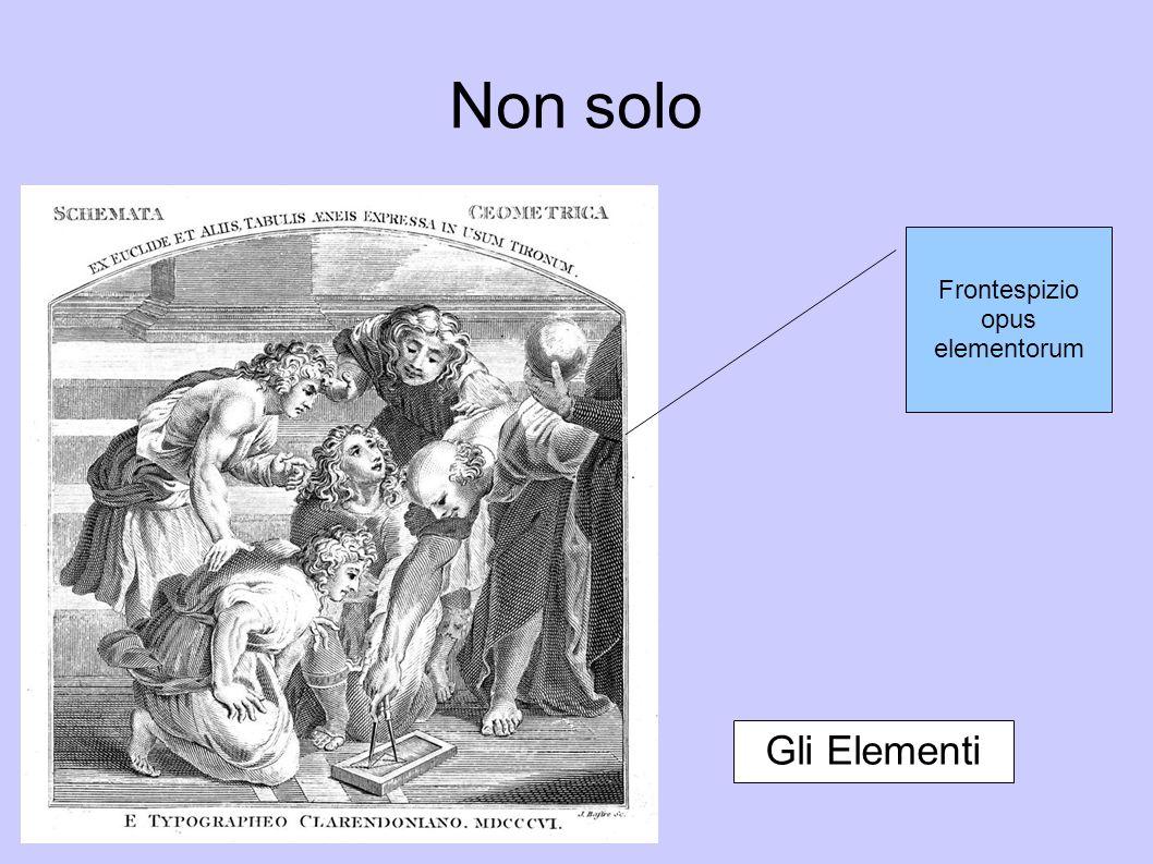 Frontespizio opus elementorum