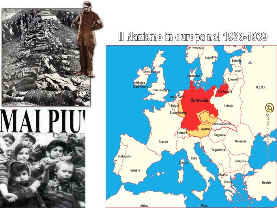 Il Nazismo in europa nel 1936-1939