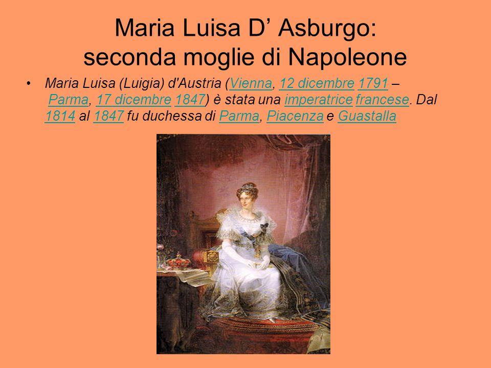 Maria Luisa D' Asburgo: seconda moglie di Napoleone
