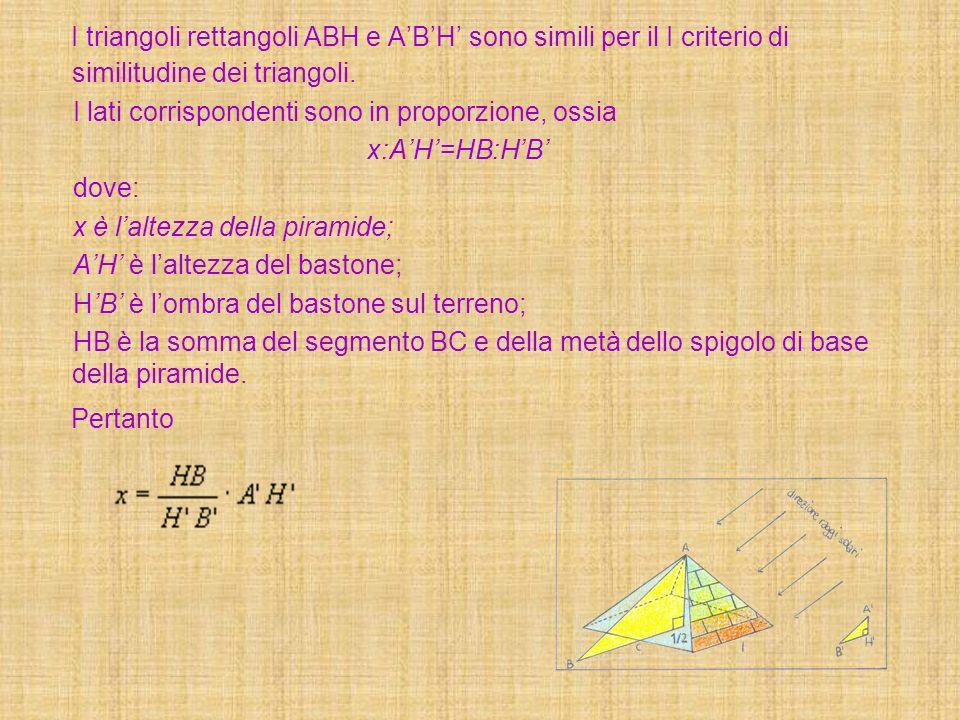 I triangoli rettangoli ABH e A'B'H' sono simili per il I criterio di similitudine dei triangoli.