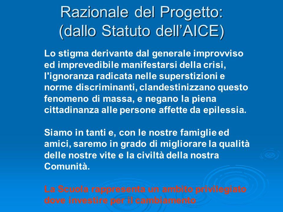 Razionale del Progetto: (dallo Statuto dell'AICE)