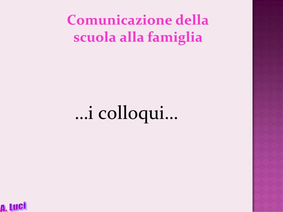 Comunicazione della scuola alla famiglia
