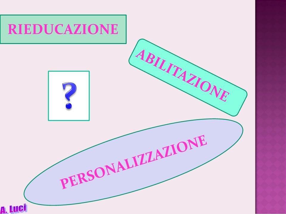 RIEDUCAZIONE ABILITAZIONE PERSONALIZZAZIONE A. Luci