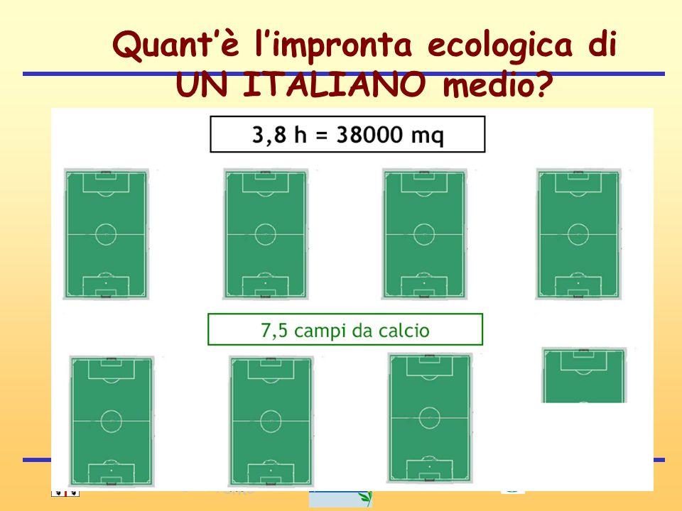 Quant'è l'impronta ecologica di UN ITALIANO medio
