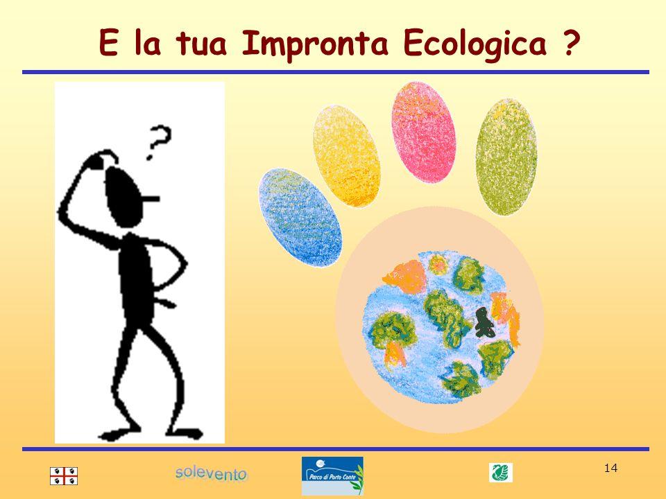 E la tua Impronta Ecologica