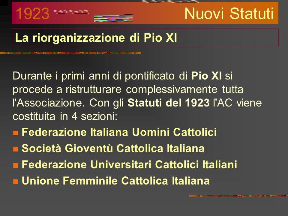 La riorganizzazione di Pio XI