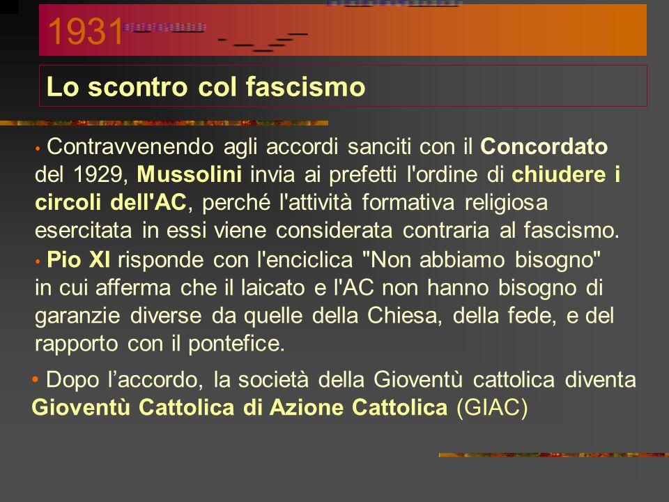 Lo scontro col fascismo