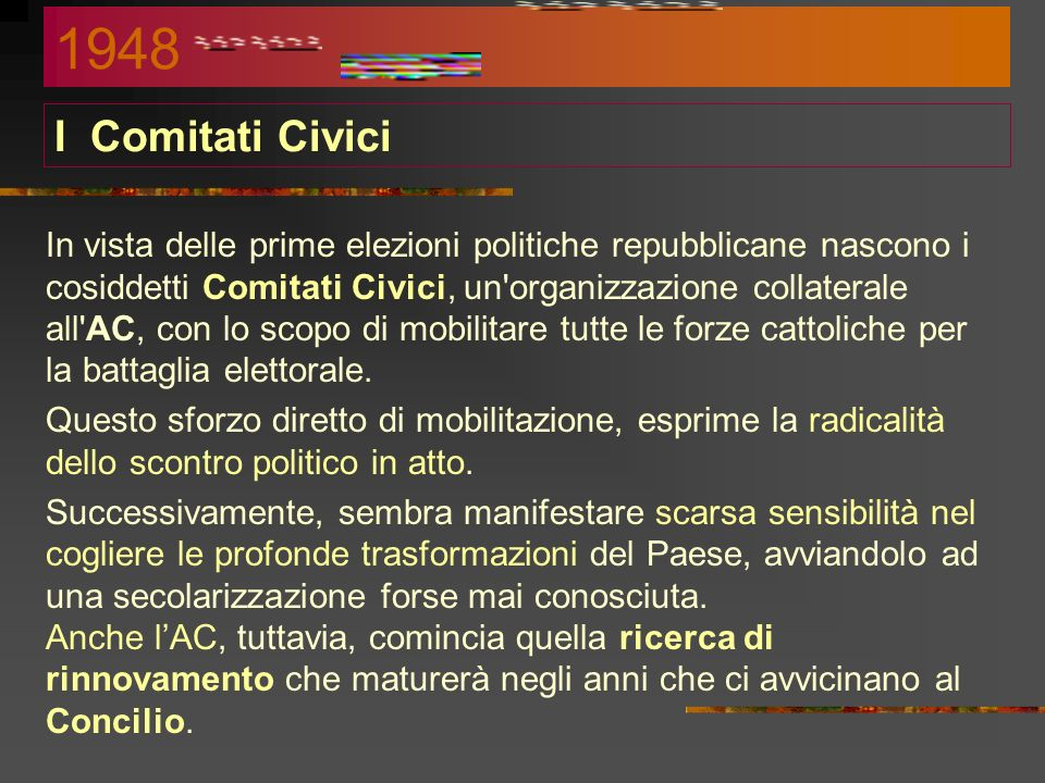 1948 I Comitati Civici.