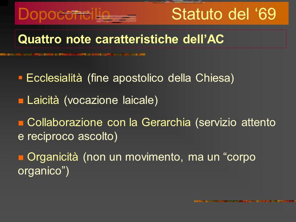 Quattro note caratteristiche dell'AC