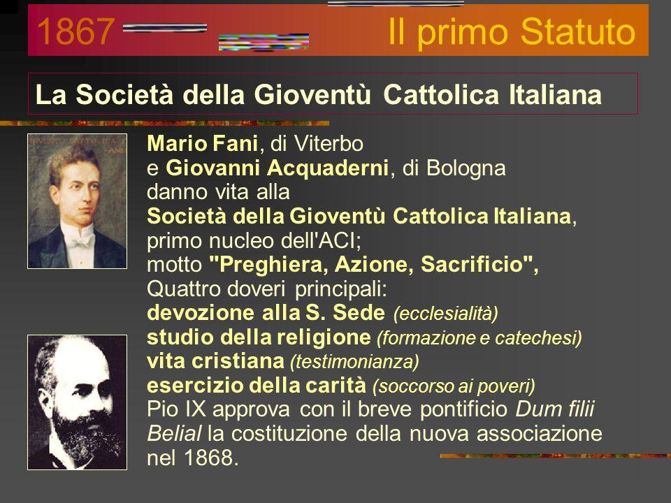 La Società della Gioventù Cattolica Italiana