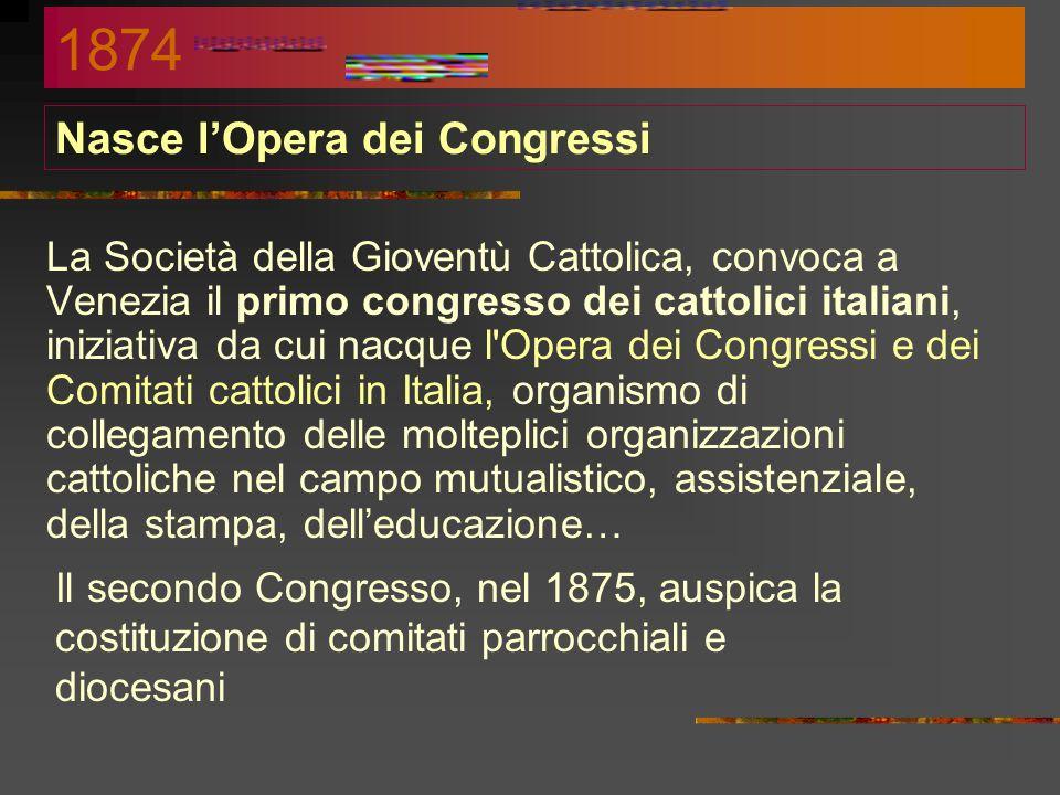 Nasce l'Opera dei Congressi