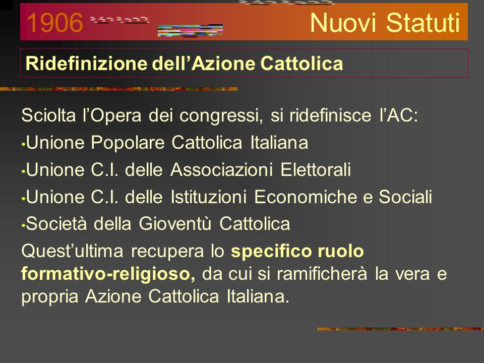 Ridefinizione dell'Azione Cattolica
