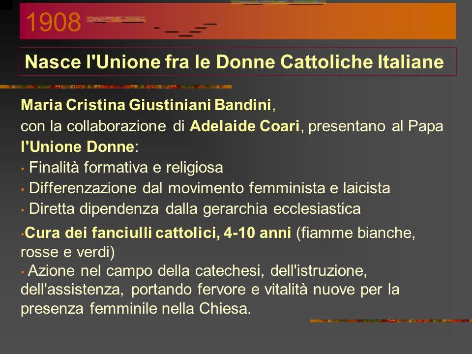 Nasce l Unione fra le Donne Cattoliche Italiane
